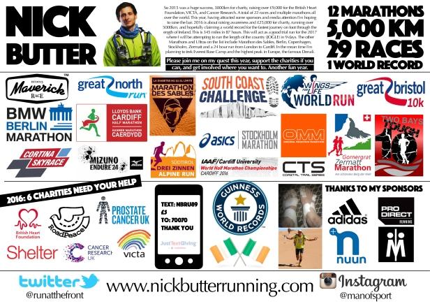 Nick's Running 2016 & 2017
